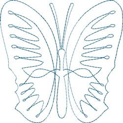 Butterfly 2 Single Run Quilt embroidery design