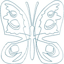 Butterfly 3 Single Run Quilt embroidery design