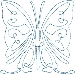 Butterfly 4 Single Run Quilt embroidery design