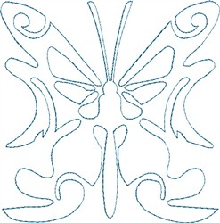 Butterfly 7 Single Run Quilt embroidery design