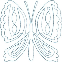 Butterfly 8 Single Run Quilt embroidery design