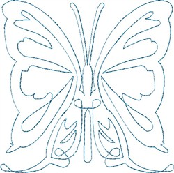 Butterfly 10 Single Run Quilt embroidery design