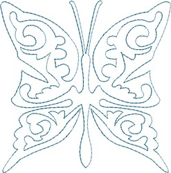 Butterfly 11 Single Run Quilt embroidery design