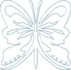 Butterfly 12 Single Run Quilt embroidery design
