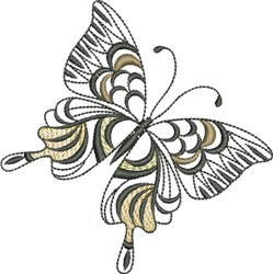 Butterfly Elegence embroidery design
