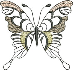 Butterfly Light embroidery design