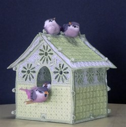 FSL Daisy Birdhouse embroidery design