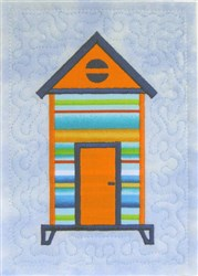 ITH Beach Hut Quilt Block 2 embroidery design