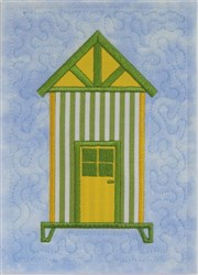 ITH Beach Hut Quilt Block 3 embroidery design