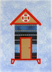 ITH Beach Hut Quilt Block 4 embroidery design