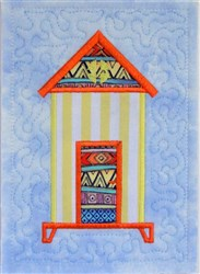 ITH Beach Hut Quilt Block 5 embroidery design