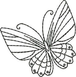 Blackwork Butterfly embroidery design