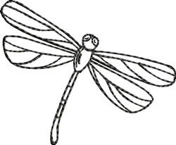 Blackwork Dragonfly embroidery design