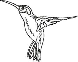 Blackwork Humminbird Left embroidery design