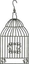 Birdcage Beauty embroidery design