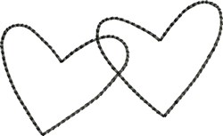 Simple Backstitched Hearts embroidery design