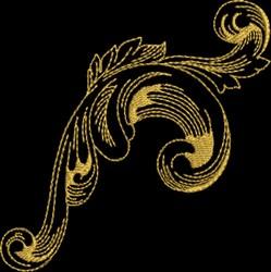 Metallic Baroque Ornament embroidery design