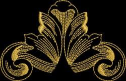 Metallic Baroque Flair embroidery design