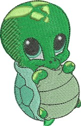 Bubbles the Sea Turtle embroidery design