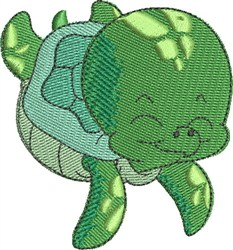 Giggles the Sea Turtle embroidery design