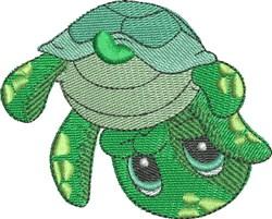 Chloe the Sea Turtle embroidery design