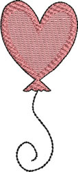 Heart Balloon embroidery design
