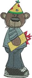 Birthday Boy Bear embroidery design