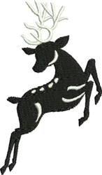 Jumping Black & White Reindeer embroidery design