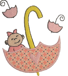 Baby Girl Applique embroidery design