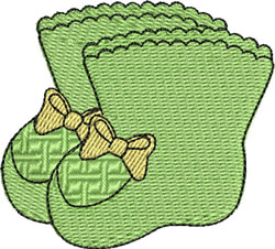 Green Booties embroidery design