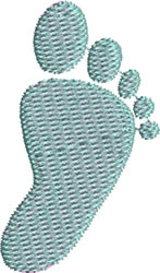 Baby Right Footprint embroidery design