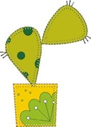 Baby Prickly Pear Cactus Applique embroidery design