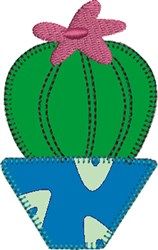 Barrel Cactus Applique embroidery design