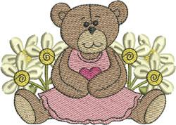 Cute Sitting Bear embroidery design