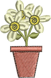 Small Flowerpot embroidery design