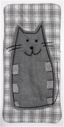 Chubby Cat Narrow Eyeglass Case embroidery design