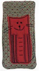 Cat Narrow Eyeglass Case 2 embroidery design