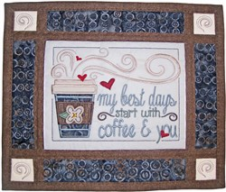 Coffee N You 3D Wall Hanging embroidery design