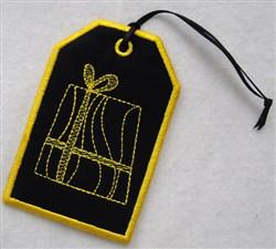 Christmas Gift Tag embroidery design