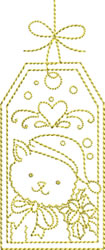 Golden Christmas Gift Tag embroidery design