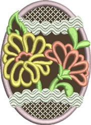 Chocolate Easter Egg 4 embroidery design