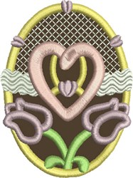 Chocolate Easter Egg 8 embroidery design