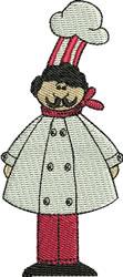 Chef Andrea embroidery design