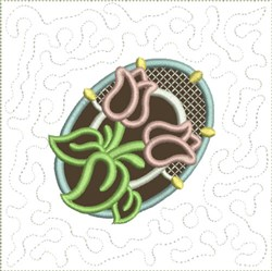 Chocolate Easter Egg Quilt Block 6 embroidery design