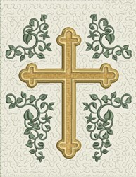 Cross Mini Quilt Block embroidery design
