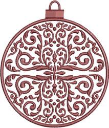 Wine Colored Ornament embroidery design