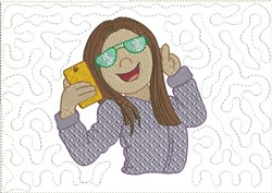 Cool Selfie Mug Mat 2 embroidery design