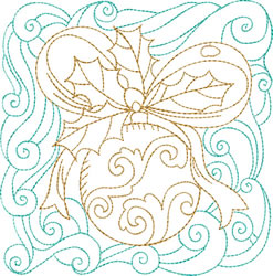 Christmas Ornament Quilt Block embroidery design