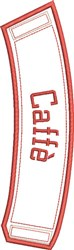 ITH Caffe Coffee Wrap embroidery design