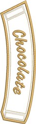 ITH Chocolate Coffee Wrap embroidery design